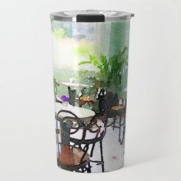 Watercolor Cafe Travel Mug