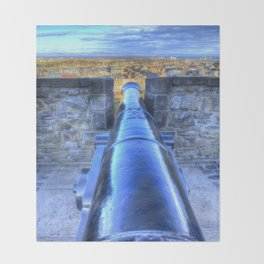 Edinburgh Castle Cannon Throw Blanket