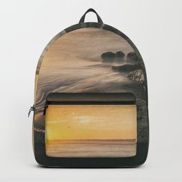 Cabedelo beach in the city of Viana do Castelo, Portugal Backpack