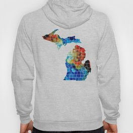 Michigan State Map - Counties by Sharon Cummings Hoody