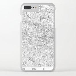 Dublin Map Line Clear iPhone Case