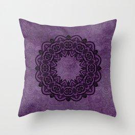 Circle in Purple Throw Pillow