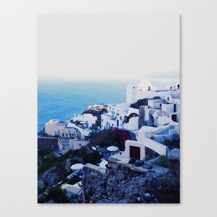santorini sunset Canvas Print