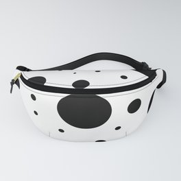 Black and White Bubbles Print Fanny Pack