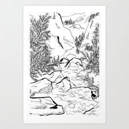 Yosemite sketch Art Print