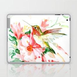 Hummingbird, Hawaiian Design, Hibiscus and Hummingbird Laptop & iPad Skin