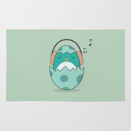Kawaii Cute Music Loving Bird Rug