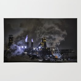 Steel Mill Cleveland, Ohio Industrial Rug