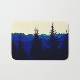 Mountains in North Vancouver under Smokey Skies Bath Mat