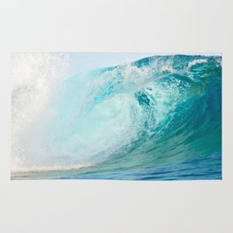 Pacific big surfing wave breaking Rug