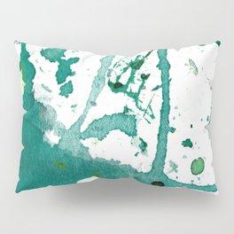 emerald green splash Pillow Sham