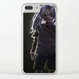 Zombie Boy (#Drawlloween2016 Series) Clear iPhone Case