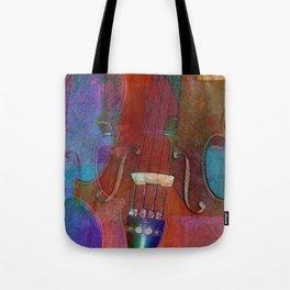 Violin Abstract Two Tote Bag