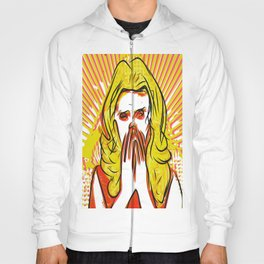 Blonde bombshell pop art Hoody