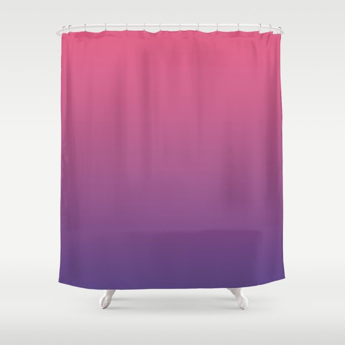 Bright Pink Ultra Violet Gradient | Pantone Color of the year 2018 Shower Curtain