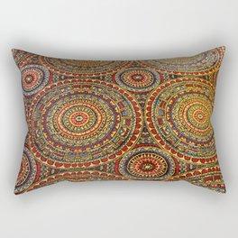 Arcade Carpet #7 - Circles Rectangular Pillow