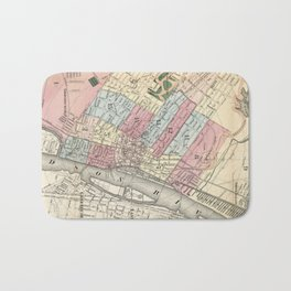 Vintage Map of Albany NY (1874)  Bath Mat