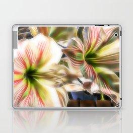 Abstract amaryllis in a garden Laptop & iPad Skin