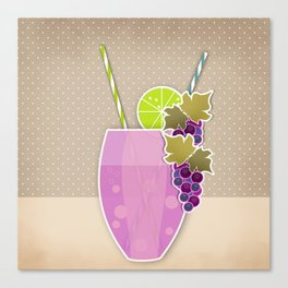 """Picture. The grape juice. From a set of paintings. The """"kitchen"""". Canvas Print"""
