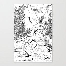 Yosemite sketch Canvas Print