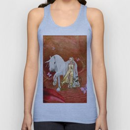 wonderful unicorn with fairy Unisex Tank Top