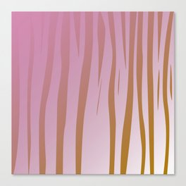 wild design exotic lines Pink Canvas Print