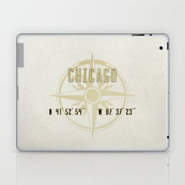 Chicago - Vintage Map and Location Laptop & iPad Skin