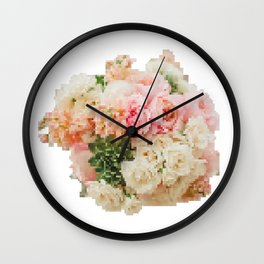 8 Bit Bouquet Wall Clock