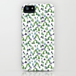 Abstract Watercolor Forest iPhone Case