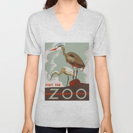 Visit the Zoo - African Birds Unisex V-Neck