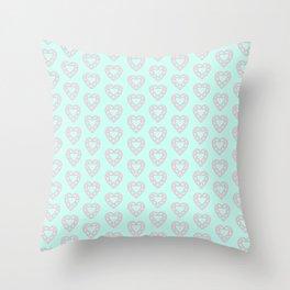 Happy Heart Gems Throw Pillow