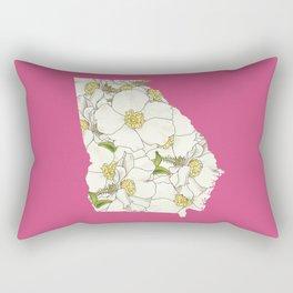 Georgia in Flowers Rectangular Pillow