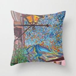 A Lamp in Antigua Throw Pillow