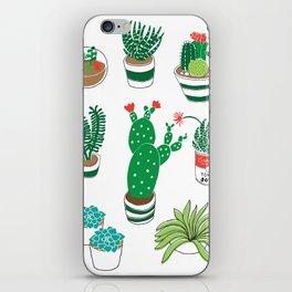 Illustrated Cactii iPhone Skin