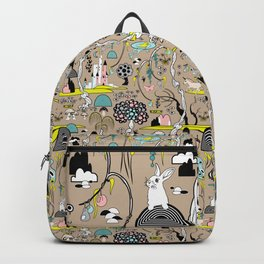 Magical Garden (Beige) Backpack