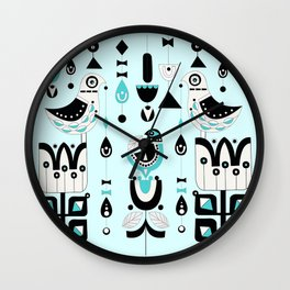 Soul Birds And Moondrops Wall Clock