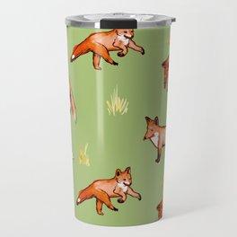 Foxy Pattern Travel Mug