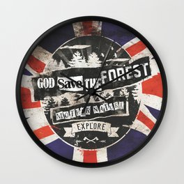 God save the forest Wall Clock