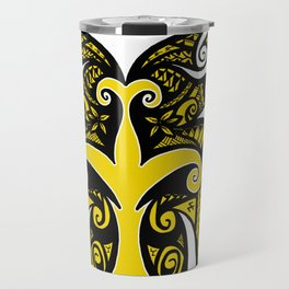 Tribal Owl Tree Travel Mug
