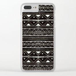 Zebedee Pattern Clear iPhone Case