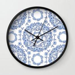 Blue Rhapsody on white Wall Clock