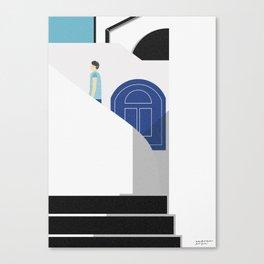 Tourist in Santorini Canvas Print