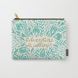 Adventure is Calling – Turquoise & Gold Palette Carry-All Pouch