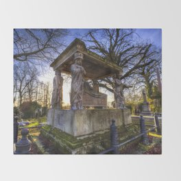 Kensal Green Cemetery London Throw Blanket