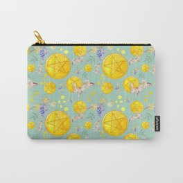 Teal Pentacles Carry-All Pouch