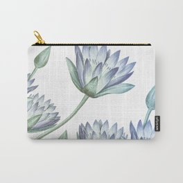 Water Lily Blue Carry-All Pouch