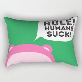 Animals rule Rectangular Pillow