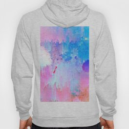 Abstract Candy Glitch - Pink, Blue and Ultra violet #abstractart #glitch Hoody