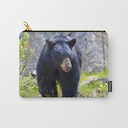 Black bear on the move in Jasper National Park,Canada Carry-All Pouch