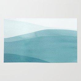 Watercolor Sea | Dip Dye Blues Rug